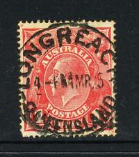 AUSTRALIA 1d RED? Postmark LONGREACH March 1915 Used SG21c? ASC 58