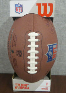 OFFICIAL WILSON THE DUKE FOOTBALL NFL AUTHENTIC REPLICA BALL ~NEW~