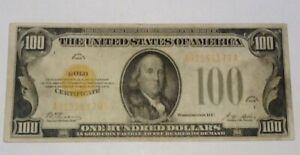 1928 $100 Dollar Bill Gold Seal