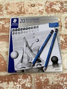 Staedtler Mars Lumograph Pencil Tin of 20 Drawing Pencils DS07