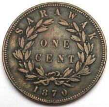 1870 Sarawak One Cent Coin