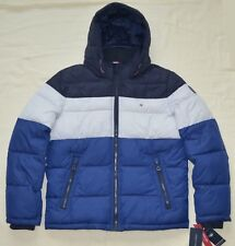 5f9b31e99626 XXL 2xl Tommy Hilfiger Mens Quilted Padded Puffer Winter Jacket Coat Blue