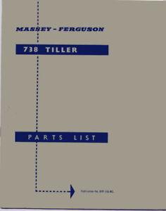FERGUSON TILLER PARTS LIST   ............................   ORIGINAL BOOK MANUAL