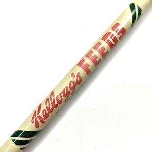 1960s Omaha Nebraska Kellogg's Feeds Advertising Wood Pencil Vtg Cereal Farm G19