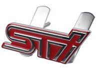 Subaru STI 3D Metal Front Grill Badge RED WRC for BRZ, WRX, Impreza, Forester
