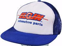 VTG 80s ELGIN AUTO PARTS Snapback CAP Mesh Trucker HAT Car Engine & Chassis Mfrg