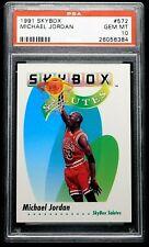 "1991 Michael Jordan PSA 10 Gemma come Nuovo Skybox #572 "" Flawless "" Chicago"