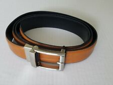 Mens the Gift the Custom Fit Brown Faux Leather Belt fits 28-48 inches NWT