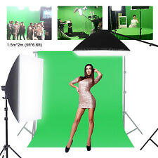Solid Green Screen Photography Background Cotton Cloth Studio Backdrop 5x6.6ft