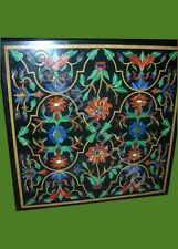 3'X3' DINING BREAKFAST LUNCH COFFEE MARBLE TABLE TOP INLAY SQUARE MALACHITE