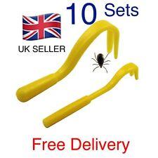 Tick Remover Tool 2 piece Cat Dog Rabbit Human. UK SELLER. 10 Sets Bulk
