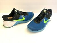 NIKE Metcon 2 819899 - 334 Men's Size  10.5  Blue Black Green