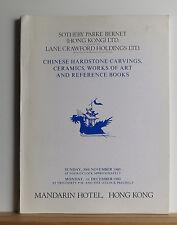 Sotheby's Chinese Hardstone Carvings Ceramics Catalog 11/30/1980 HONG KONG