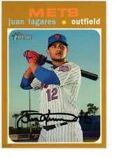 Juan Lagares 2020 Topps Heritage 5x7 Gold #208 /10 Mets