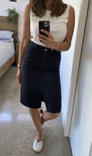 Cheap Monday Rinsed Black, Denim Skirt, Size S (I'm a size 10)
