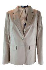 JIL SANDER NAVY Women's Cotton Blend Tan Blazer Jacket (DE 40)