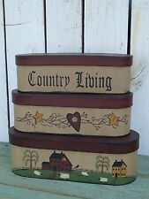 Primitive saltbox house country living nesting stacking boxes country home decor