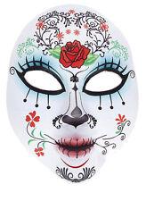 FEMALE DAY OF THE DEAD MASK Voodoo Sugar Skull Skeleton Fancy Dress Costume 5707