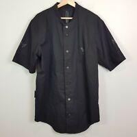 THE ANTI ORDER Mens Size L Black S/S Snap Button Shirt
