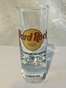 """Hard Rock Cafe CAYMAN ISLANDS 4"""" Shot Glass - COLLECTOR'S ITEM!  Save The Planet"""