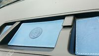 VW T5.1 TRANSPORTER,CAMPER -Cointray BLUE LEATHER INSERTS- WHTstitch - 09'onward