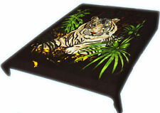 Brand New Tiger print Twin size Luxury blanket