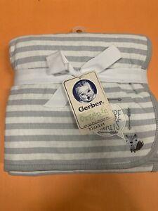 "GERBER Baby Organic Cotton 2 Ply Baby Blanket 30"" x 30"" Brand New"