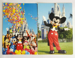 Lot of 2 x Postcards Walt Disney World Mickey Mouse Donald Duck Posted 1980s