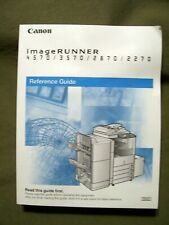 CANON IMAGE RUNNER 4570/3570/2870/2270 COPIER REFERENCE GUIDE BOOK