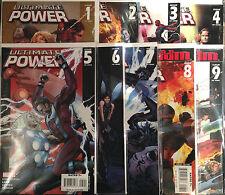 Ultimate Power #1-9 Set NM- 1st Print Free UK P&P Marvel Comics
