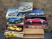 """Fujima/Revell - Konvolut 6x Porsche Modellbauset  """"1970/80er Sammlung"""" - RAR!"""