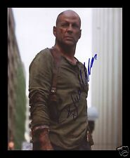 BRUCE WILLIS - DIE HARD AUTOGRAPHED SIGNED AND FRAMED PP PHOTO POSTER