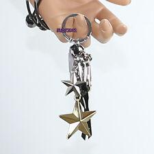 NWT Coach Multi Metal Stars Studded Tassel Bag Charm Key Chain Fob 63619 NEW