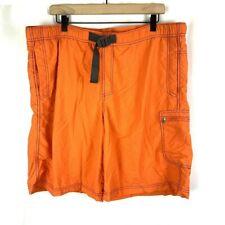 Columbia Sportswear Co Orange Nylon Omni Shade Swim Trunks Mens XL 9L