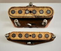 Wiggins Brand, hand wound Tele pickup set, Alnico, Spalted Maple, Over wound