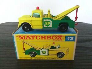 vintage Matchbox #13 Wreck/Wrecker/Tow Truck in Original F2 Box (Dodge), OB