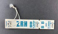BOAC ZURICH VINTAGE BAG TAG LUGGAGE BAGGAGE LABEL B.O.A.C. RETRO AIRLINE AIRWAYS