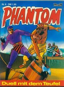 Phantom Nr.8 von 1974 - TOP Z0-1 BASTEI KRIMI COMIC-HEFT Lee Falk