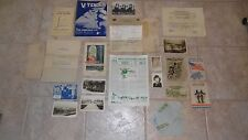WORLD WAR II Ephemera Lot ARMY, Waves, HUSBAND WIFE Photos POSTCARDS Letter etc