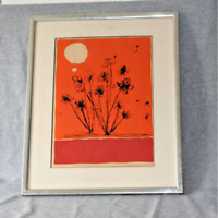 Victor Rosado Desert Flowers Screen Print Serigraph as is