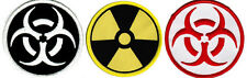 LOT THREE ZOMBIE HUNTER PATCHES embroidered iron-on NUCLEAR BIOHAZARD RADIATION