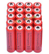 20x AA 2A 3000mAh 1.2V Ni-Mh Rojo Batería recargable MP3/RC/Reloj despertador