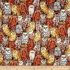 Fat Quarter Autumn In The Forest  Owls  Cotton Quilting Fabric  50 x 55cm
