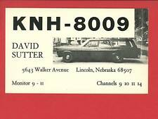 LINCOLN NE CB RADIO KNH-8009 QSL DAVID SUTTER OLD STATIONWAGON CAR POSTCARD