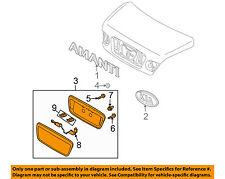 KIA OEM 04-06 Amanti Trunk Lid-License Plate Bracket Pocket Mount 873803F001XX