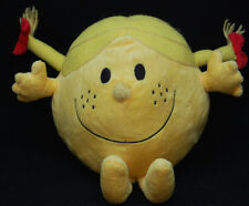 """Little Miss Sunshine Plush Yellow Mr Men Show Embroidered Eyes 9 """" X 11"""" Toy"""