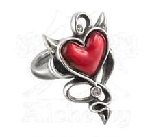 Devil Heart Ring - Size Q - Alchemy Gothic UL17 Tattoo Inspired Jewellery ULFR6