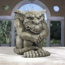Menacing Medieval Gothic Angry Get Lost Gargoyle Sculpture Statue