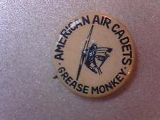 AMERICAN AIR CADETS GREASE MONKEY Pinback Button  Aviation Pin