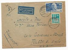 Germany Scott #669 & #653 on Cover Air Mail 1915 Badwiessee